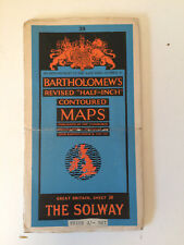 RARE ANTIQUE c1947  COMPLETE ORDNANCE SURVEY MAP OF THE SOLWAY ENGLAND SHEET 38