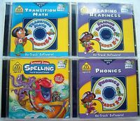 School Zone: Math/Reading/Spelling/Phonics (CD-ROM, On Track Software, 4-CD)