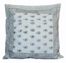 Indian Cotton Decorative Sofa Pillow Cover Throw Hand Block Print Cushion Cover