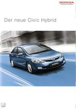 Prospekt / Brochure Honda Civic Hybrid 08/2006 mit Preisliste