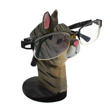 Novel Eyeglass Holder Sunglass Stand Handmade Cat Figure Desk Storage Home Decor