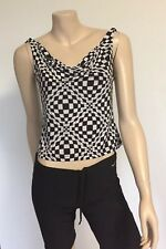 ABSOLUT JOY Cami, NNT, Black And White Check (M)