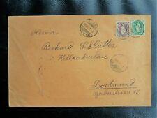 TIMBRES DE SUISSE  : 50 VERT + 1 FRANC LIE DE VIN SUR PLI Oblitéré BASEL 1901