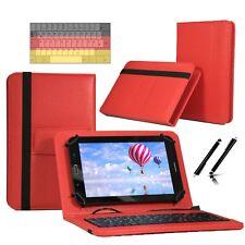 "Tastatur Case Hülle für Samsung Galaxy Tab 2 P5110 Tablet Keyboard 10.1"" Rot"