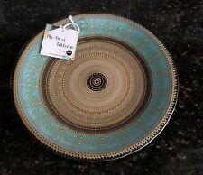 Turkish Ardacam Dinner / Serving Plate Blue/Gold -Handmade-Art of Tabletop-New