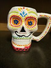 Day of the Dead Skull Coffee Mug Hand-grip Large Capacity 3D Pre -owned