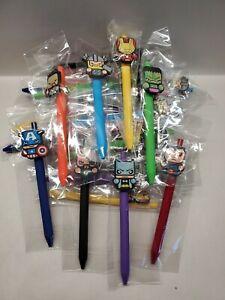 Lot of 24 Superhero Pens Batman, Thor, Hulk, Ironman, Captain America, Superman