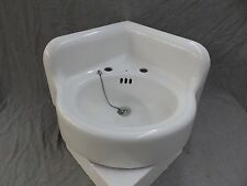 Antique Cast Iron White Porcelain Corner Sink Vintage Bathroom Kohler 421-17E