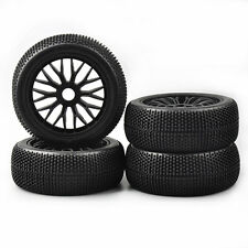 17mm Hex 115mm 4Pcs Buggy Tires Wheel Rims For HSP 1:8 RC Racing Off-Road Car
