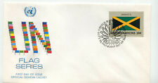 United Nations #405 Flag Series, Jamaica, Official Geneva Cachet, FDC