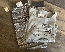 NWT Aeropostale Live Love Dream ~ Jogger Pajamas Lounge Pants w/Shirt Match Set