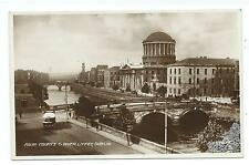 IRELAND - FOUR COURTS & RIVER LIFFEY, DUBLIN  Real Photo Postcard