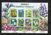 Jersey SC # 1177a Flowers . Miniature sheet .  MNH