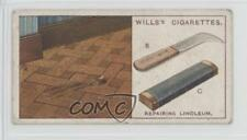 1927 Wills Household Hints Tobacco Base #27 Repairing Linoleum Card 1i3