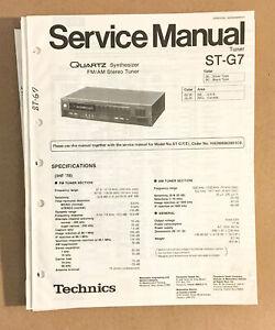 TECHNICS ST-G7 TUNER  Service Manual *Original*