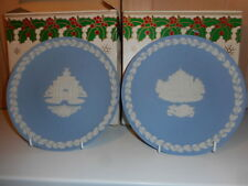 WEDGWOOD JASPER WARE 1984 CONSTITUTION HILL & 1985 TATE GALLERY CHRISTMAS PLATES
