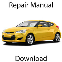 Hyundai Veloster 2011-2015 Repair Manual Workshop Service