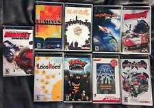 SONY PSP LOT of 9 games COMPLETE LocoRoco Ratchet Clank Katamari Wipeout Lumines