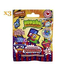 New Moshi Monsters Collectors Series 9 Blind Bags x3 - RARE - New