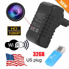 Full HD 1080P WiFi Hidden Spy Camera Wall Charger Mini DV Video Motion Detection
