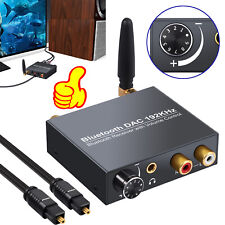 New listing 192kHz Digital Optical Toslink to Analog Audio Converter with Bluetooth Receiver
