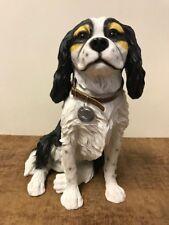 More details for leonardo large 35cm cavalier king charles spaniel figurine ornament dog statue