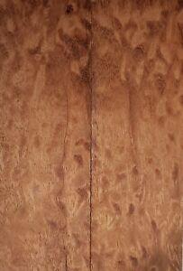 """Sapele Pommele (2 pc) Razor Knife Scales 3/16"""" x 2"""" x 6"""" - (68)"""