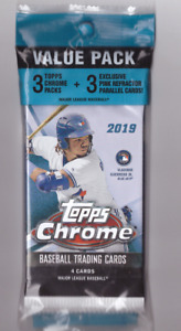 2019 Topps Chrome Baseball CELLO Value Pack 3 Packs + 3 Pink Refractors TATIS RC