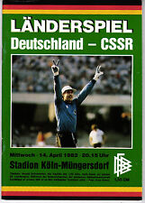 Länderspiel 14.04.1982 Deutschland - CSSR / Czechoslovakia in Köln