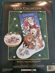 The Gold Collection SANTA'S WILDLIFE STOCKING Cross Stitch Kit #8566
