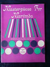 Masterpieces for Marimba arranged by Thomas McMillan