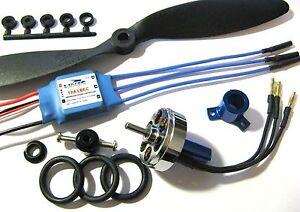 UK Seller 24g 1500kV Blue Wonder Brushless Motor + ESC + Prop Kit Combo 3D Plane