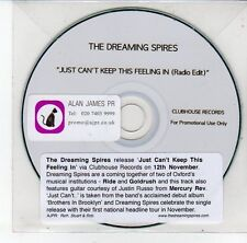 (EG994) The Dreaming Spires, Just Can't Keep This Feeling In - DJ CD