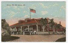 Golf Country Club Cars Hot Springs Arkansas 1910c postcard