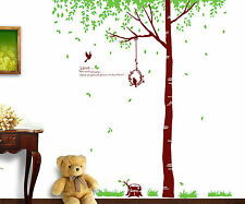 Xlarge birds tree Love wall stickers Decal Removable Decor Home Nursery AU