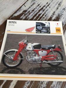 Honda 125 CB92 1963 CB 92 Tarjeta Moto Colección Atlas Japón