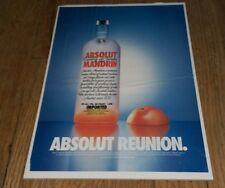 Vintage 2001 Absolut Vodka Reunio Distillery ad Ready To Be Framed RARE Mandarin