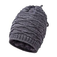 Large Size Mens Winter Warm Beanie Hats Outdoor Stretch Knit Slouchy Skull Cap