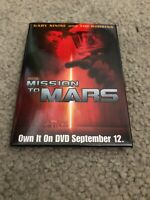 Movie Promo Mission To Mars 2000 pin back Button Tim Robbins Gary Sinise