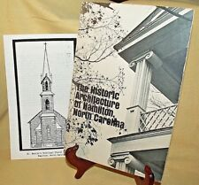 HISTORIC ARCHITECTURE HAMILTON NORTH CAROLINA NC 1979 PB JOANN SIEBERG BAKER.