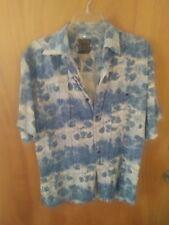 Men's Bruno Hawaiian Shirt Medium 100% Silk. Blue floral Good Condition