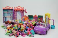 LARGE Lot Of Polly Pocket Dolls Clothing Car Accessories