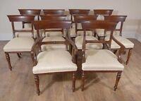 Regency Dining Chairs - English Mahogany Trafalgar Chair