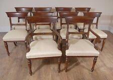 Mahogany Regency Dining Chairs - Set 10