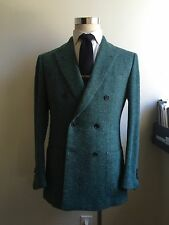 NEW $3250 Sartorio by Kiton Green Double Breasted Blazer 40R/50R from Attolini