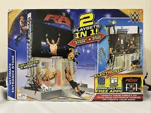 NEW WWE Elite Electronic Ultimate Entrance Back Stage Figure Playset SEALED