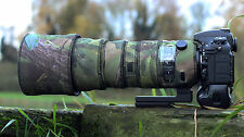 Sigma 150 600 mm Sport Néoprène Lentille Protection Camouflage Cover Woodland Green