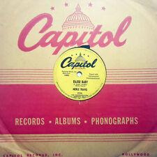 MERLE TRAVIS Bajou Baby (A Cajun Lullaby)/Knee Deep In Trouble CAPITOL PROMO