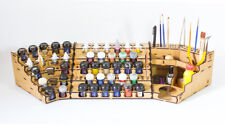 Model Painting Full Workstation Rack Kit (Vallejo, Citadel, Model Color)