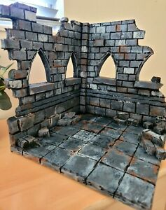 "Custom Diorama Castle Ruins Marvel legends DC Neca Mezco 6"" 7"" figures 1/12"